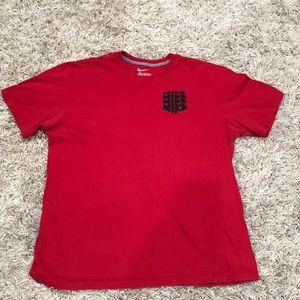 Red XL NIKE T-shirt.